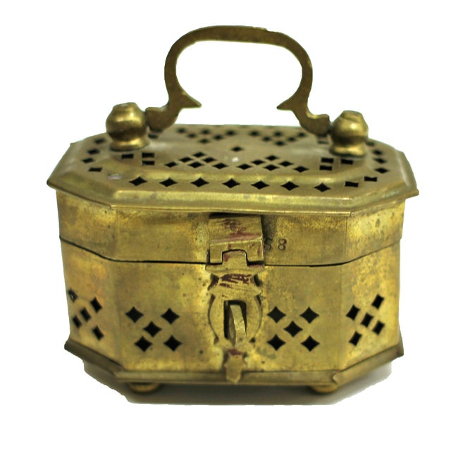 Vintage Brass Cricket Box - Image 1 of 3