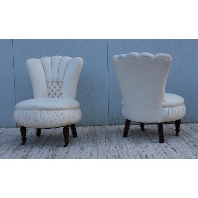 19th Century English Slipper Chairs A Pair Chairish