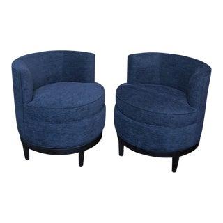 Vintage Swaim Swivel Chairs - A Pair