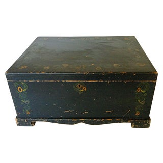 Painted Linen Chest