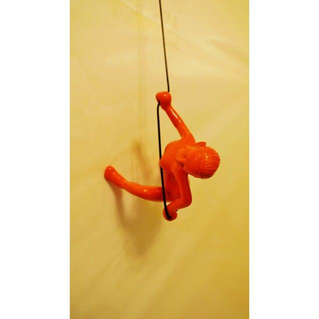 Orange Climbing Girl Wall Decor - Image 2 of 5