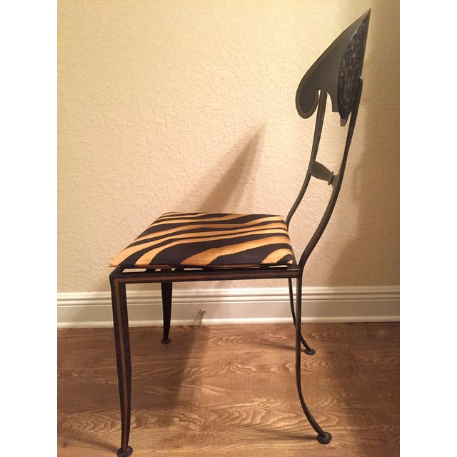 Designer Metal Accent Chair - Image 7 of 11