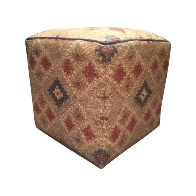 Antique Vintage Kilim Turkish Rug Ottoman Pouf Chairish