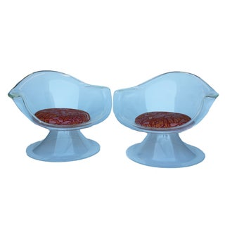 Pair Lucite Chairs by Erwine & Estelle Laverne