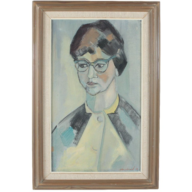 1960 Portrait Painting by Engebrand - Image 1 of 3