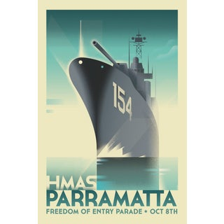 Mads Berg 'Parramatta' Retro Deco Danish Poster