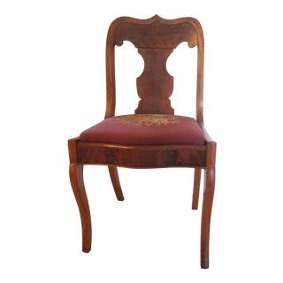Antique Needlepoint Cushion Chair