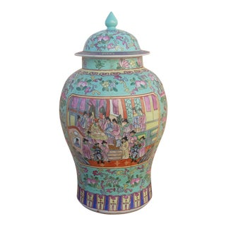 Chinoiserie Ceramic Ginger Jar