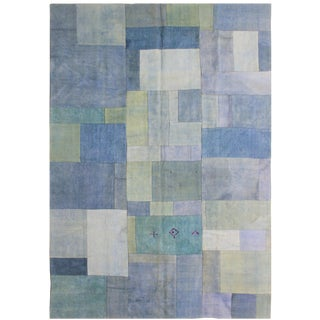 "Aara Rugs Inc. Hand Knotted Patchwork Kilim - 9'4"" X 6'5"""