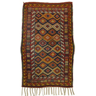 Hand-Knotted Wool Turkish Rug - 3′3″ × 6′