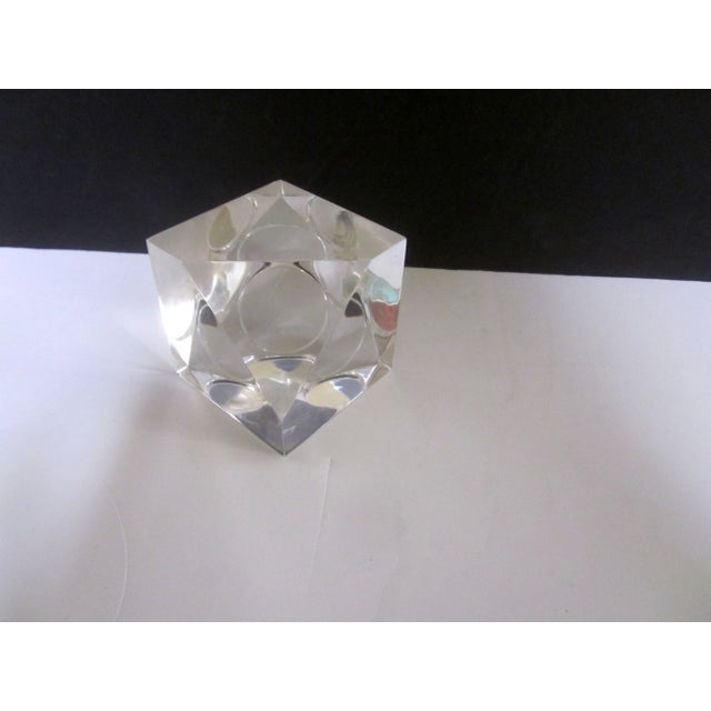 Sculptural Lucite Modernist Paperweight - Image 5 of 5