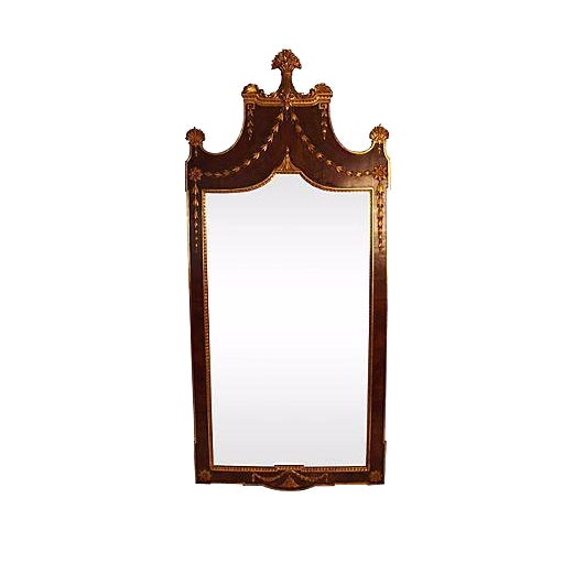 Image of Antique Gilded Wheat Sheaf Mirror