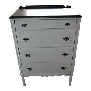 Vintage Grey & Natural Wood Dresser
