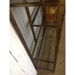 Image of Double-Arch Etagere Patinated Aged Brass