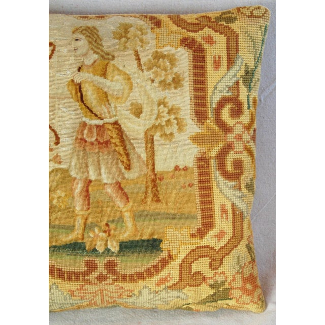 Antique French Needlepoint Pillow - Image 8 of 11