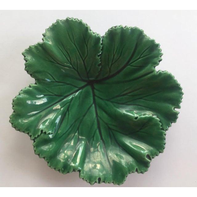 Vintage Portuguese Majolica Leaf Plate - Image 4 of 10