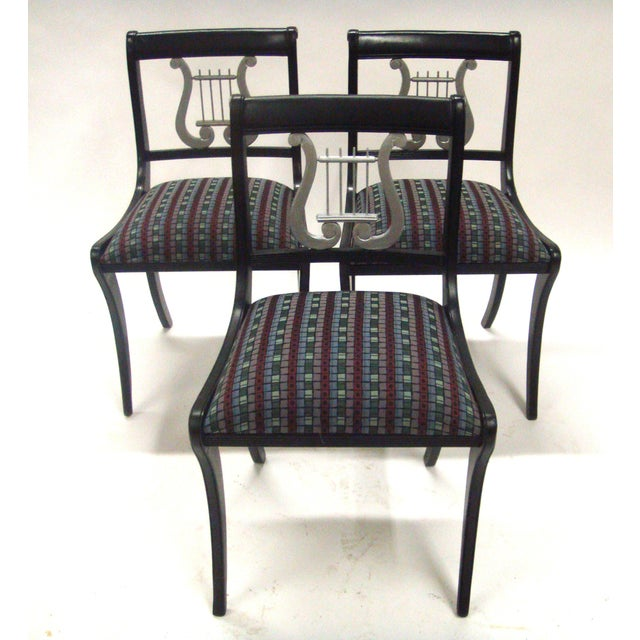 Image of Mid-Century Harp Back Dining Chairs - Set of 3