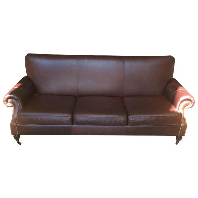 Pottery Barn Brooklyn Leather Sofa - Image 1 of 7
