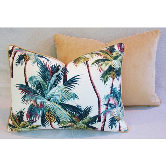 Designer Tropical Coconut Palm Tree Pillows - Pair - Image 8 of 10