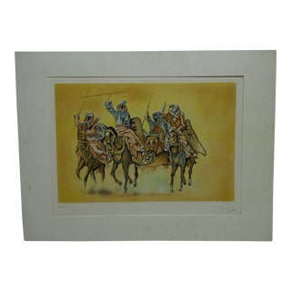 "Matted Salvador Dali ""Battle of Tetovan"" Print"