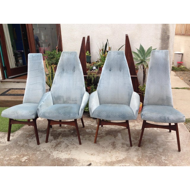 Adrian Pearsall Sculptural High Back Arm Chairs - Set of 4 - Image 3 of 3