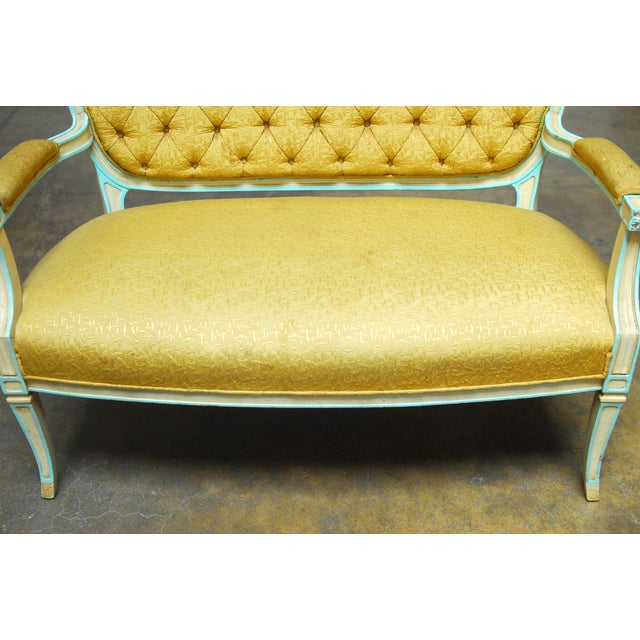 French Louis XVI Painted Canape Settee - Image 2 of 6