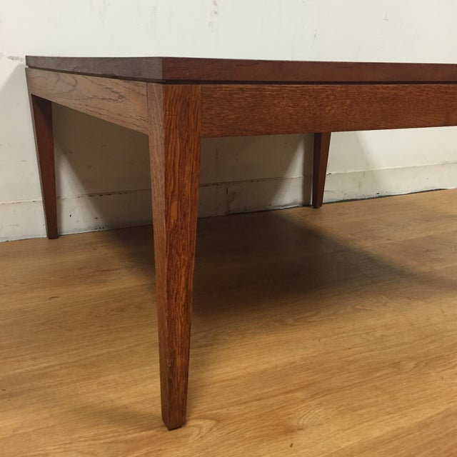 Mid-Century Modern Square Coffee Table - Image 3 of 11
