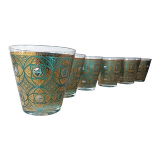 Mid-Century Low Ball Glasses - Set of 6