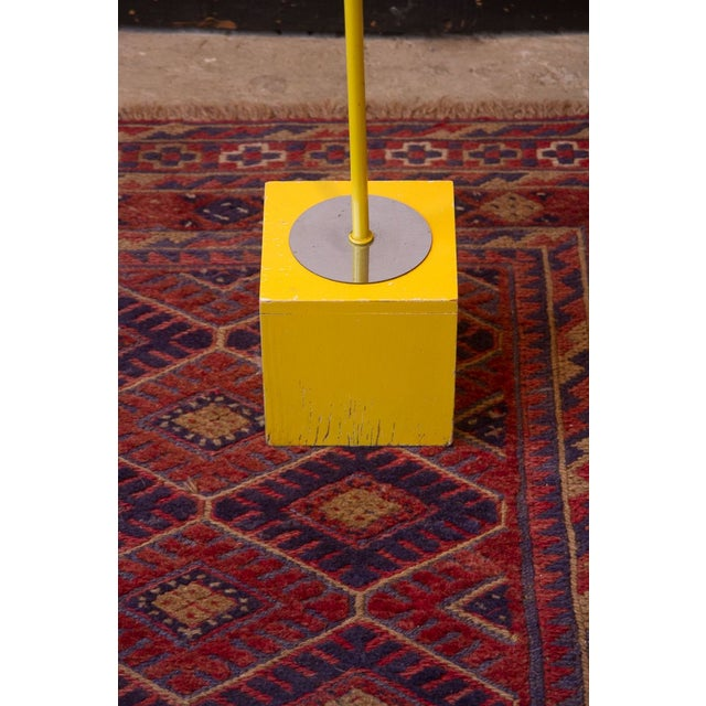 George Kovacs Bright Yellow & Chrome Floor Lamp - Image 4 of 5