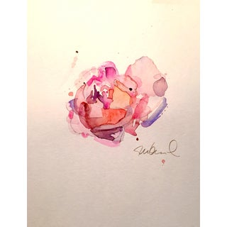 Abstract Warm Rose Watercolor Painting