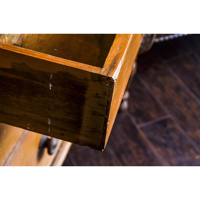Antique Scrubbed Pine Linen Press Cabinet - Image 8 of 10
