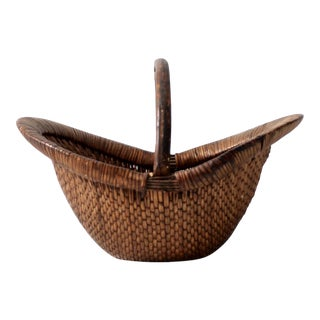 Antique Chinese Willow Basket
