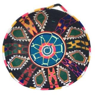 Vintage Moroccan Wool Flat Basket