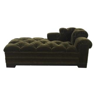 Tufted Mohair Chaise Sofa