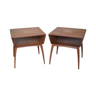 Heywood Wakefield Mid-Century Maple Side Tables - A Pair