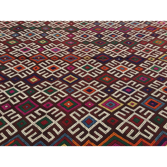 Vintage Turkish Kilim Rug- 7′1″ × 9′10″ - Image 8 of 10