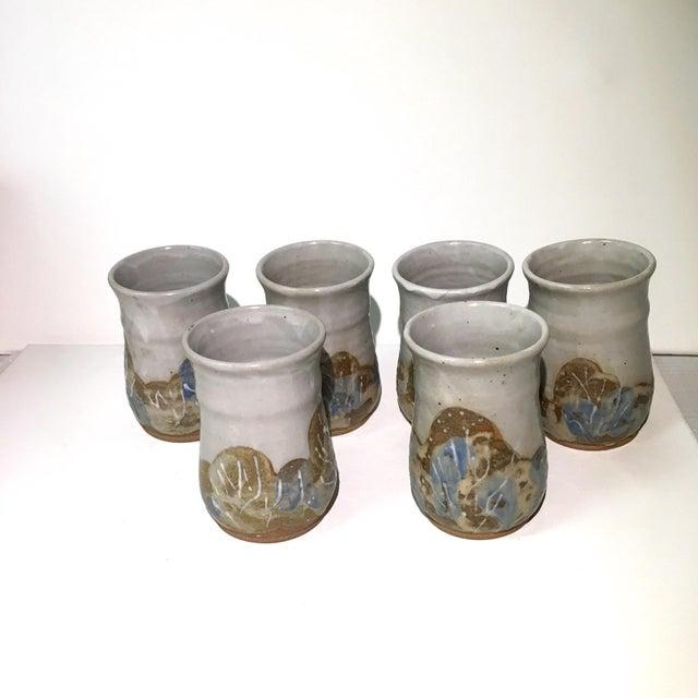 Image of Signed Studio Pottery Tumblers - Set of 6