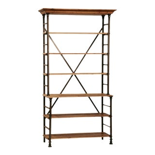 Reclaimed Wood & Iron Display Shelf