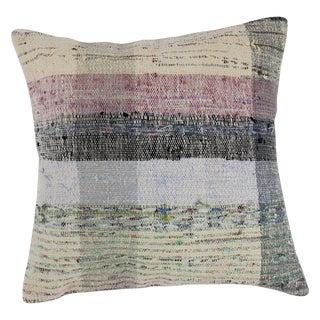"Turkish Hand-Woven Chaput Kilim Pillow 24""x 24"""