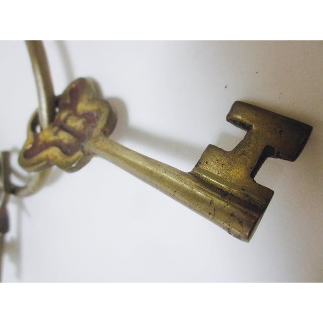 Oversize Hollywood Glam Large Brass Skeleton KeyS Ring Set - Image 8 of 9