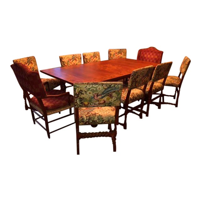 Image of Baker Traditional Dining Set - Set of 10