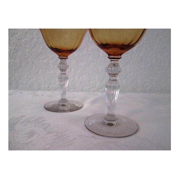 Image of Vintage Raspberry & Honey Wine Glasses - S/4