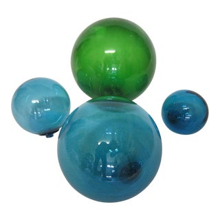 Vintage Glass Fishing Floats - Set of 4