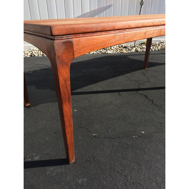 Danish Style Coffee Table: Mid-Century Danish Style Walnut Bench Coffee Table