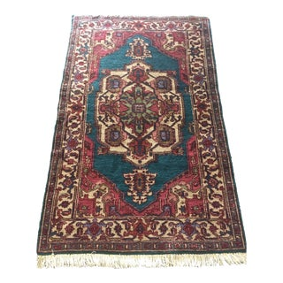 "Antique Persian Hand Knotted Rug - 5'7"" x 3'5"""