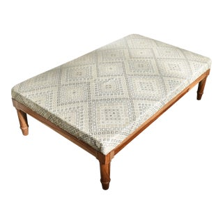 Geometric Upholstered Cocktail Ottoman