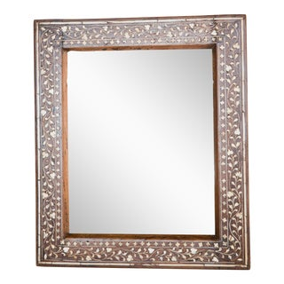 Antique Anglo-India Inlay Wall Mirror