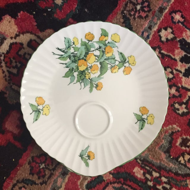 Staffordshire Cornwall Scalloped Teacup Dessert Plates - Set of 4 - Image 3 of 7