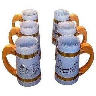 Vintage Siestaware Tiki Mugs - Set of 6