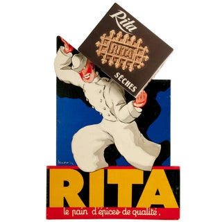 French Rita Cookie Retail Display Easel